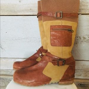 SEYCHELLES Leather & Suede Zip Mid Calf Boots